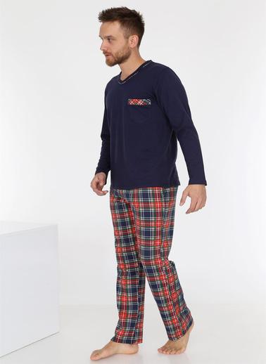 Obje Pijama Takım Lacivert